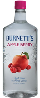 Burnett's Vodka Apple Berry 750ml - Case of 12